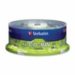 CDRW VERBATIM 25PCS