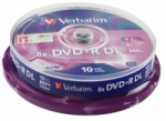DVD+R VERBATIM DUAL LAYER 10PCS