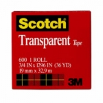 SCOTCH TAPE 600 3/4IN X 1296IN TRANSPARAN